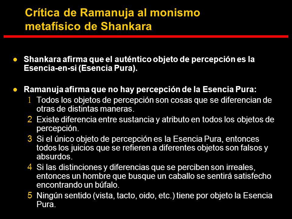 Crítica de Ramanuja al monismo metafísico de Shankara