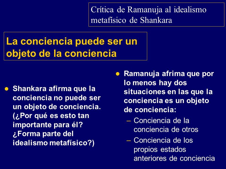 La conciencia puede ser un objeto de la conciencia