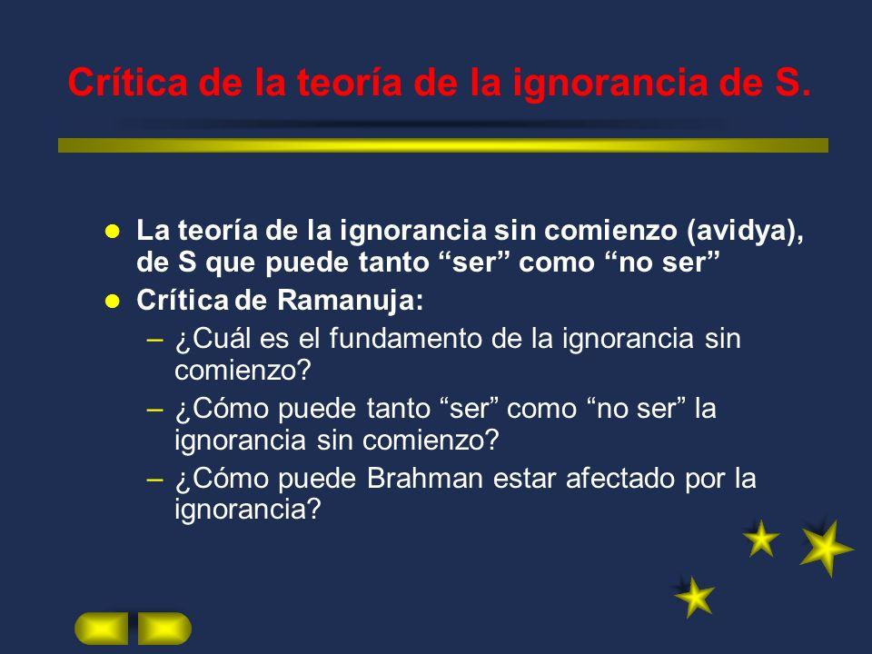 Crítica de la teoría de la ignorancia de S.