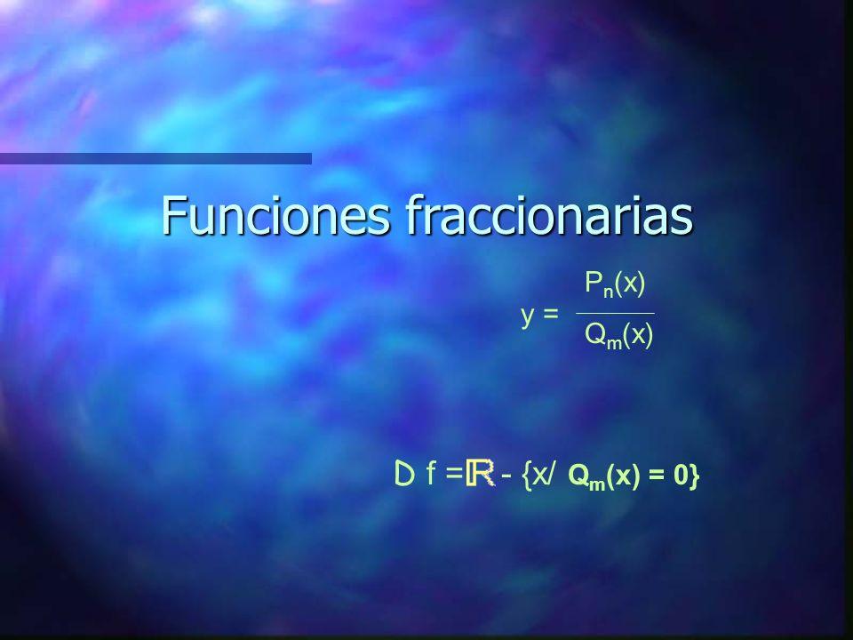 Funciones fraccionarias