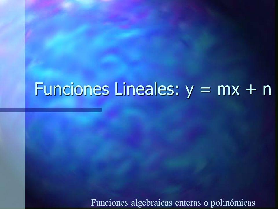 Funciones Lineales: y = mx + n
