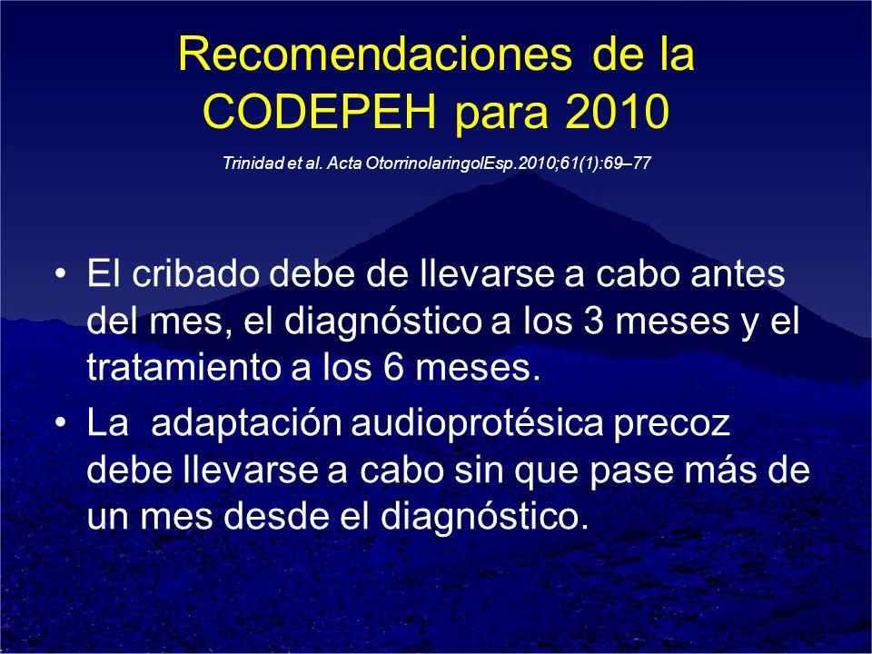 Recomendaciones de la CODEPEH para 2010