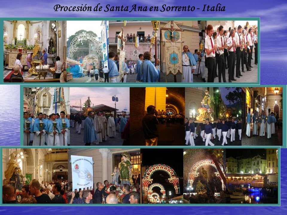 Procesión de Santa Ana en Sorrento - Italia