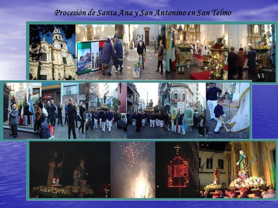 Procesión de Santa Ana y San Antonino en San Telmo