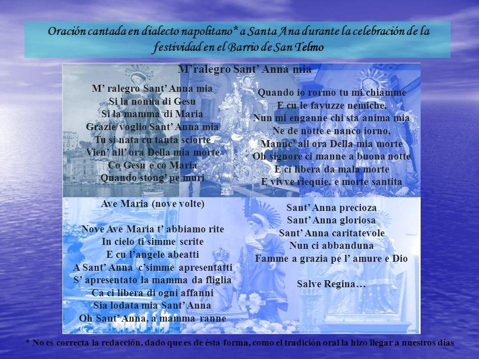 Oración cantada en dialecto napolitano