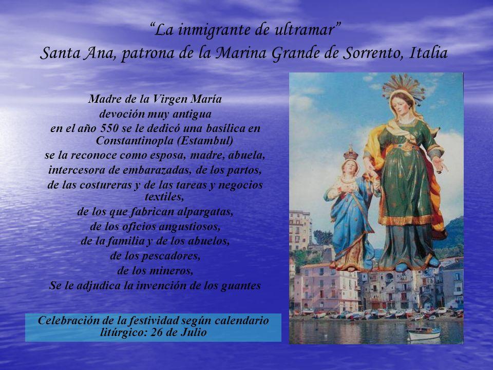 La inmigrante de ultramar Santa Ana, patrona de la Marina Grande de Sorrento, Italia