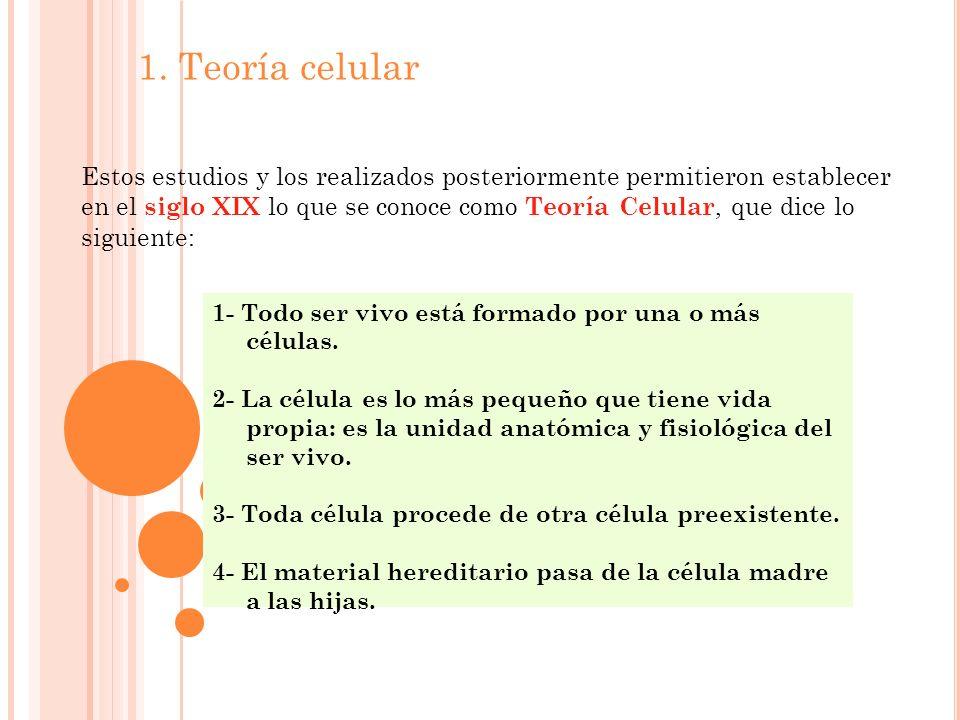 1. Teoría celular