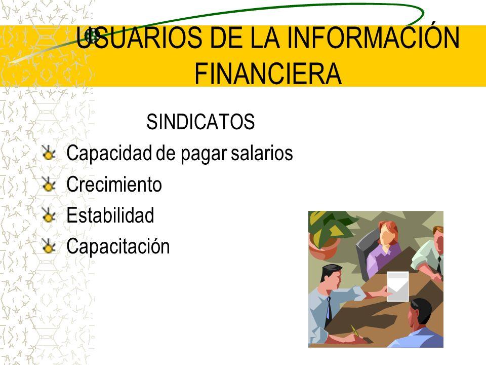 USUARIOS DE LA INFORMACIÓN FINANCIERA
