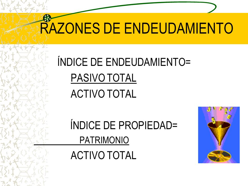 RAZONES DE ENDEUDAMIENTO