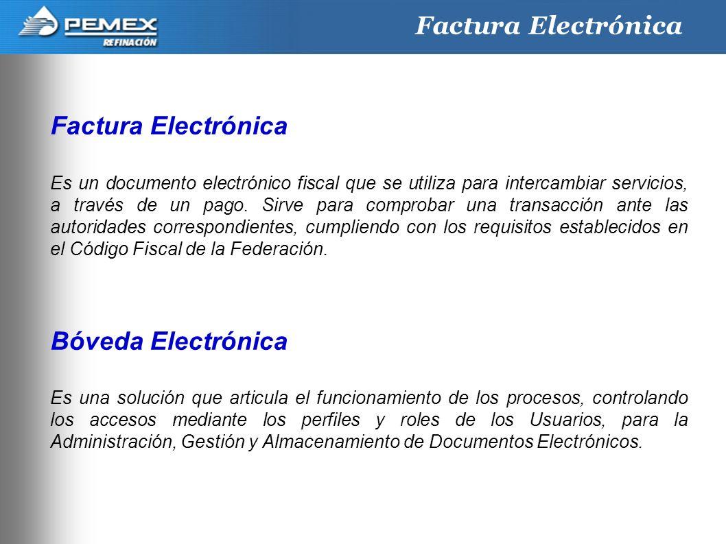 Factura Electrónica Factura Electrónica Bóveda Electrónica