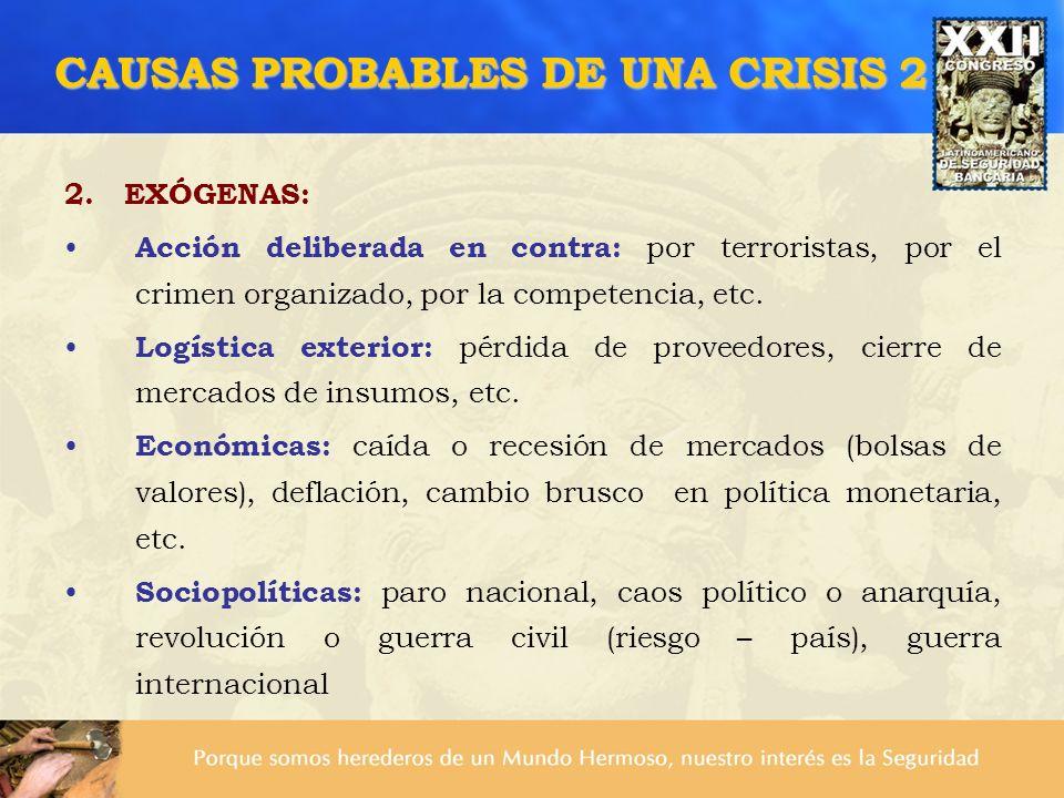 CAUSAS PROBABLES DE UNA CRISIS 2