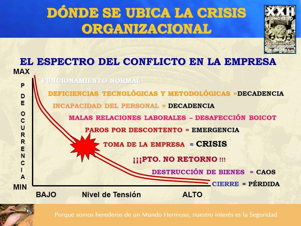 DÓNDE SE UBICA LA CRISIS ORGANIZACIONAL