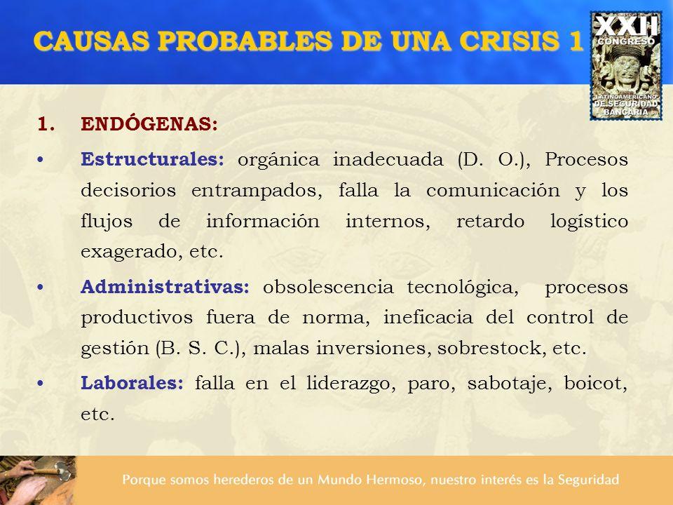 CAUSAS PROBABLES DE UNA CRISIS 1