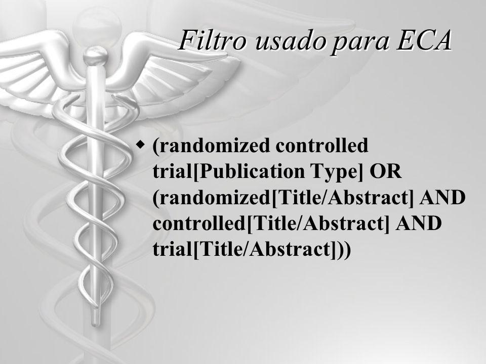 Filtro usado para ECA