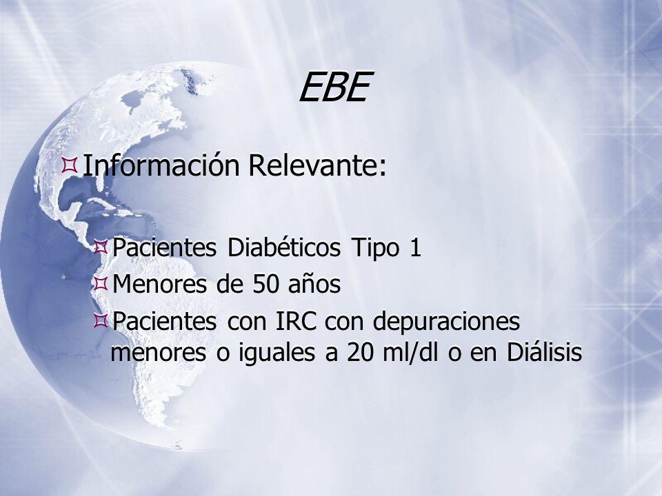 EBE Información Relevante: Pacientes Diabéticos Tipo 1
