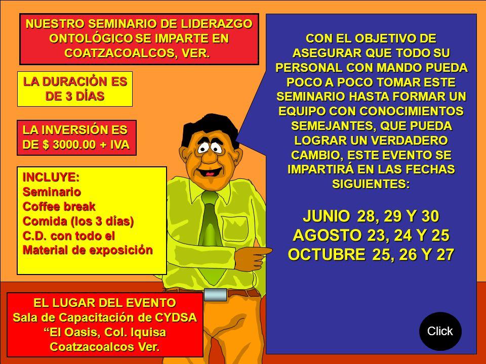 JUNIO 28, 29 Y 30 AGOSTO 23, 24 Y 25 OCTUBRE 25, 26 Y 27