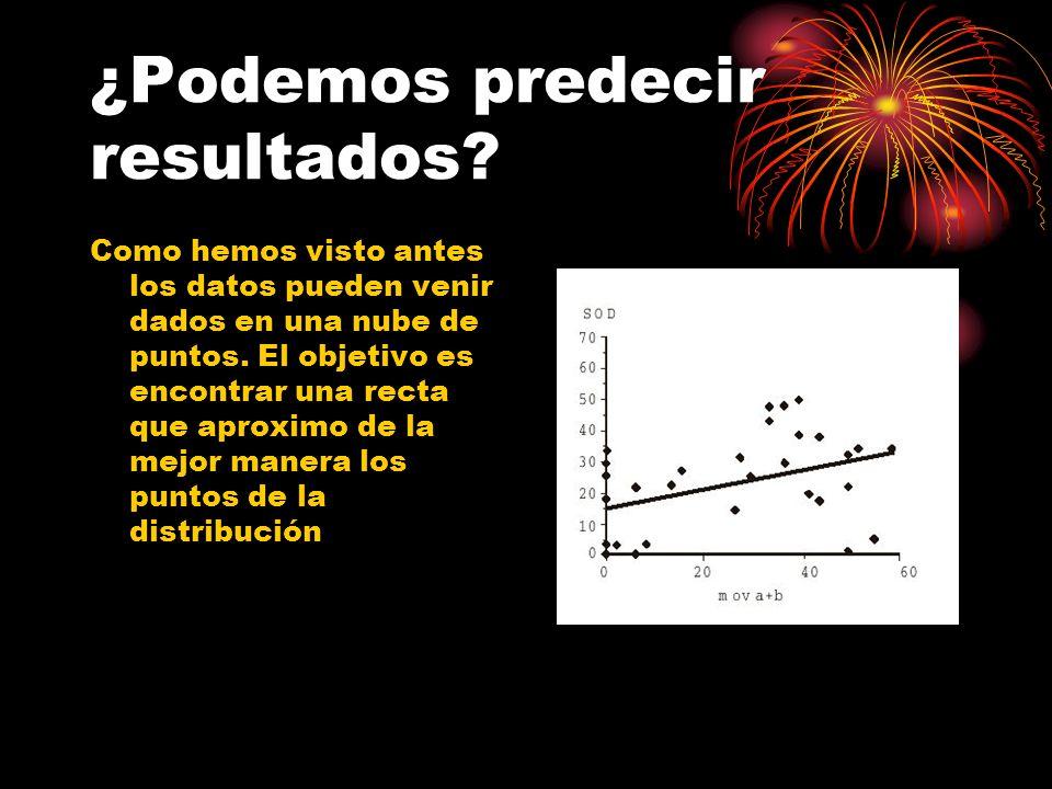 ¿Podemos predecir resultados