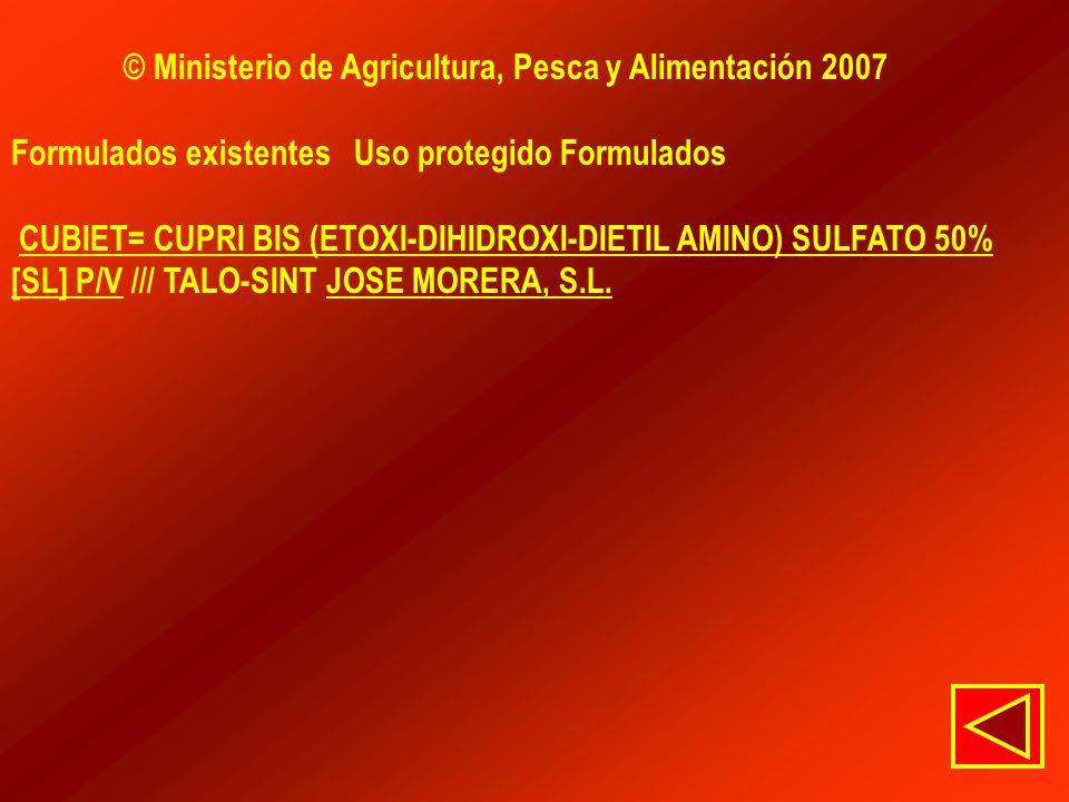 © Ministerio de Agricultura, Pesca y Alimentación 2007