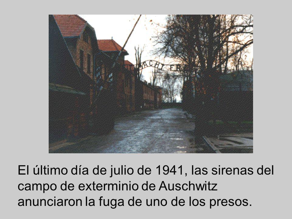 El 31 de julio de 1991, se celebró un acontecimiento notable, el cincuentenario del inicio del martirio del P. Maximiliano Kolbe. El último día de julio de 1941, las sirenas del campo de exterminio de Auxchwitz anunciaron la fuga de uno de los presos. Como represalia, diez de sus compañeros de prisión tendrían una muerte larga y lenta por inanición encerrados en el llamado bunker de la muerte . Todo el día, torturados por el sol, el hambre y el miedo, los hombres esperaron mientras el comandante y su asistente de la Gestapo caminaban entre las filas para seleccionar de forma arbitraria a los diez escogidos. Cuando el comandante escogió a un hombre llamado Francesc Gajowniczek, éste se echó a llorar desesperado diciendo: