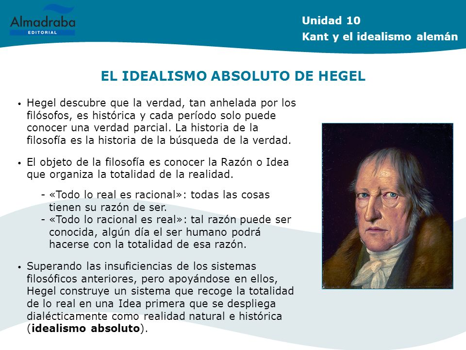 EL IDEALISMO ABSOLUTO DE HEGEL