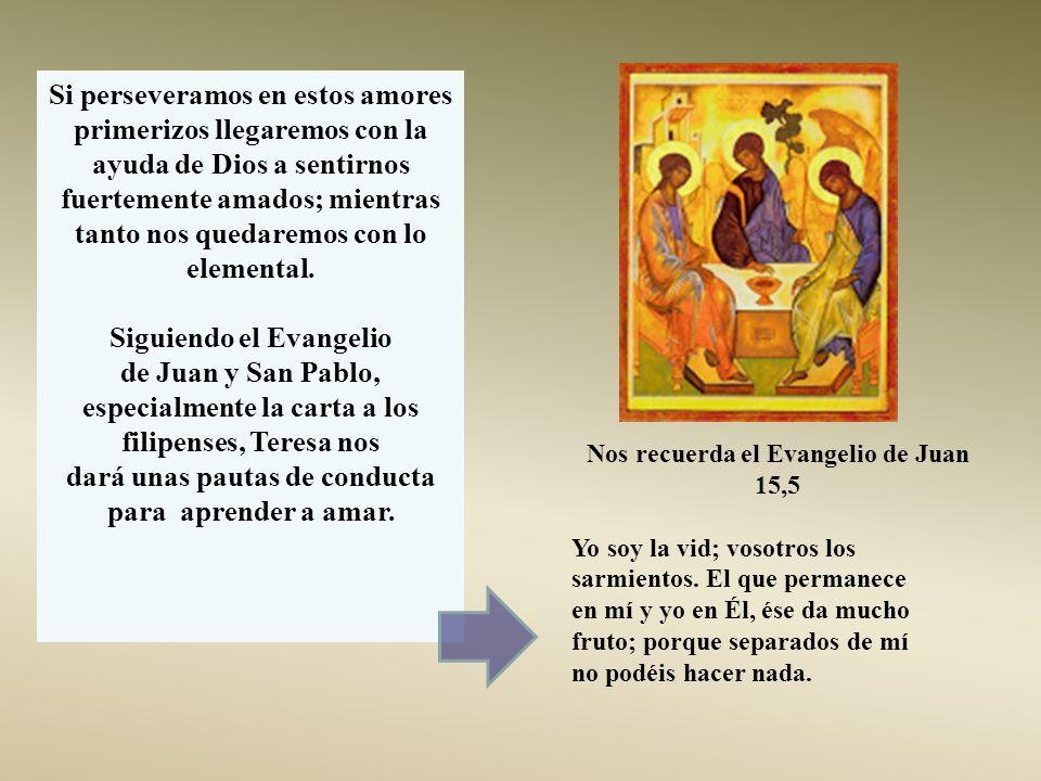 Siguiendo el Evangelio de Juan y San Pablo,