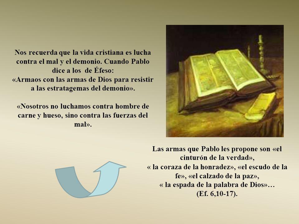 « la espada de la palabra de Dios»…
