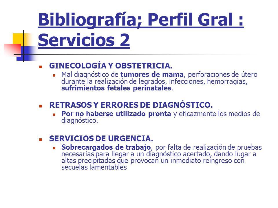Bibliografía; Perfil Gral : Servicios 2