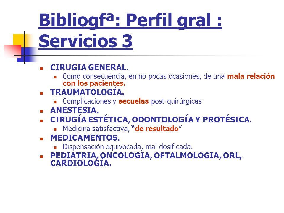 Bibliogfª: Perfil gral : Servicios 3