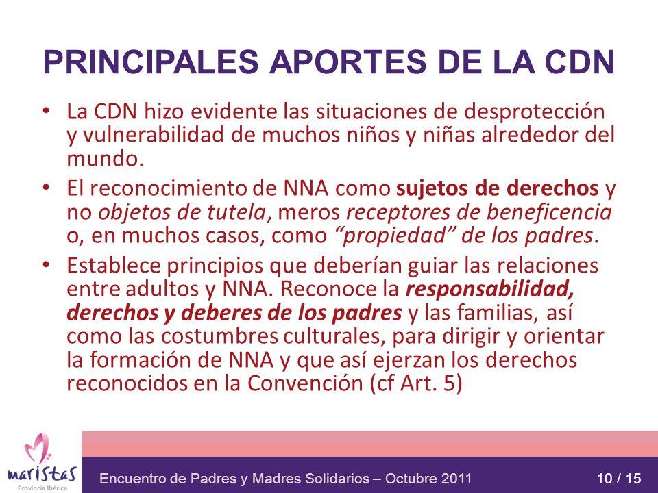PRINCIPALES APORTES DE LA CDN
