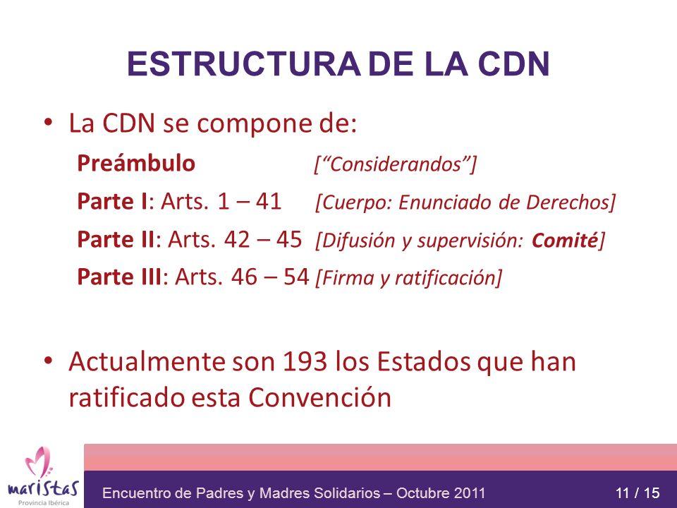 ESTRUCTURA DE LA CDN La CDN se compone de: