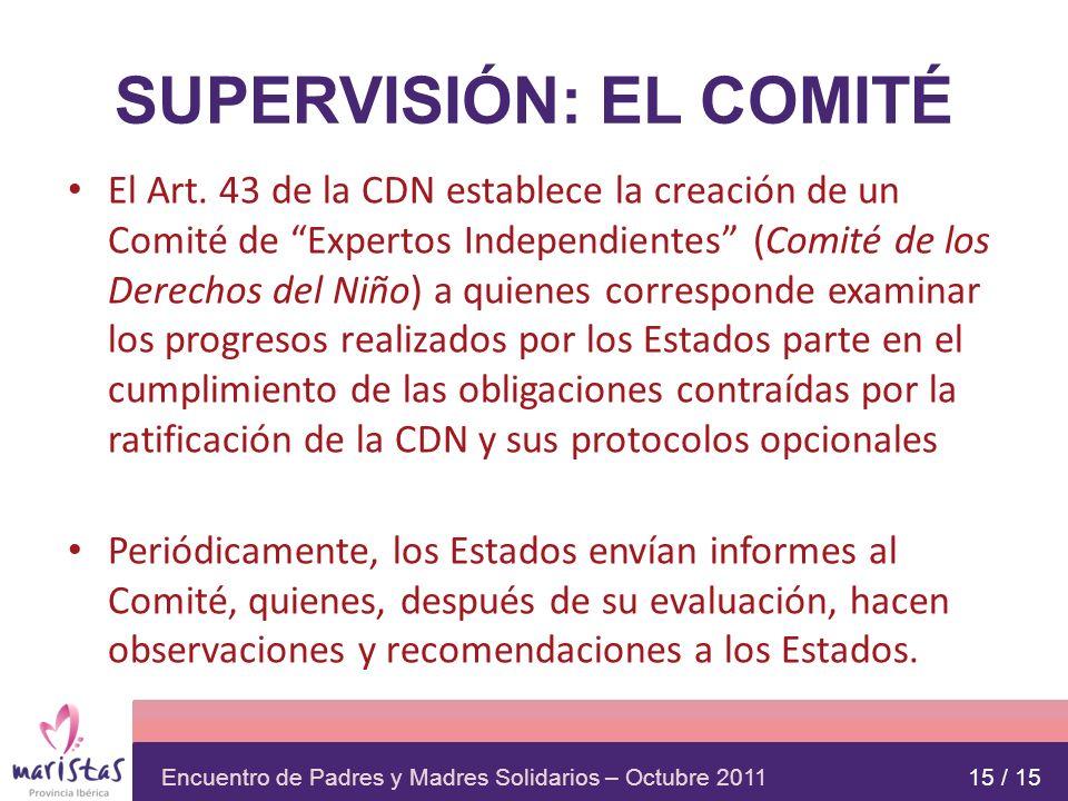 SUPERVISIÓN: EL COMITÉ