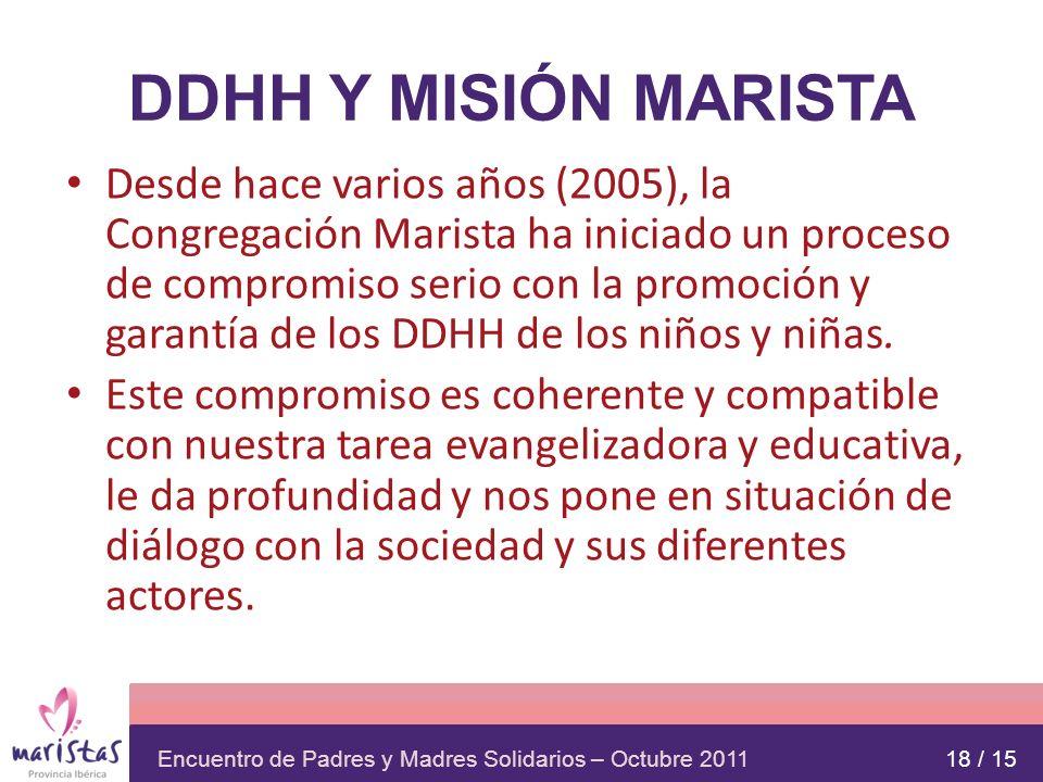 DDHH Y MISIÓN MARISTA