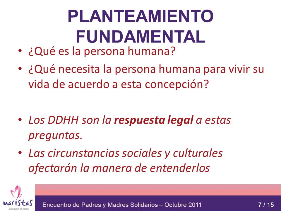 PLANTEAMIENTO FUNDAMENTAL