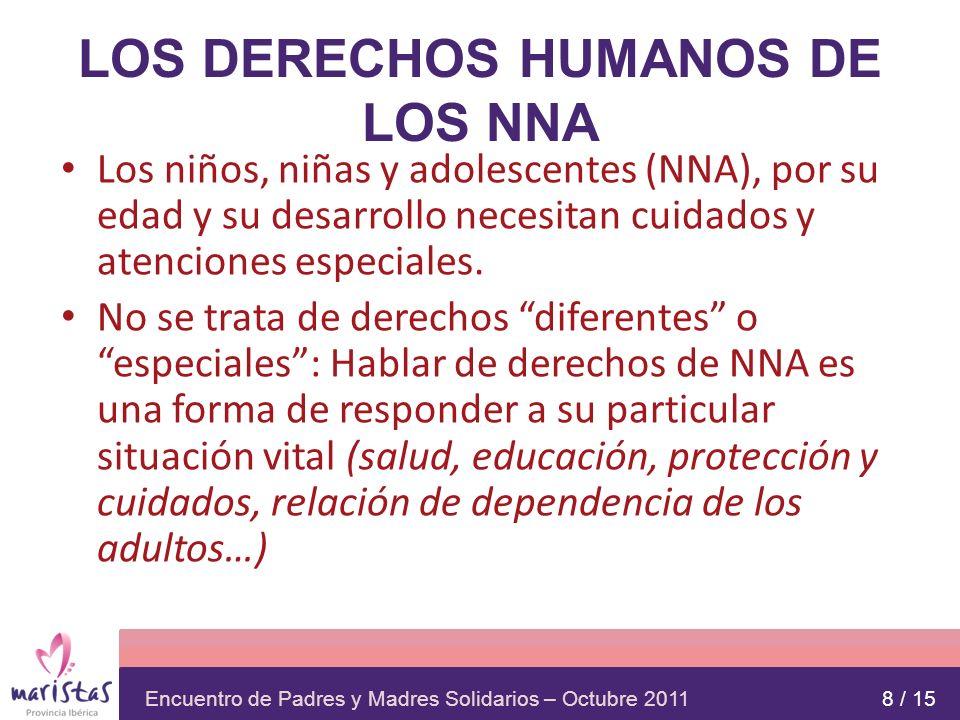 LOS DERECHOS HUMANOS DE LOS NNA