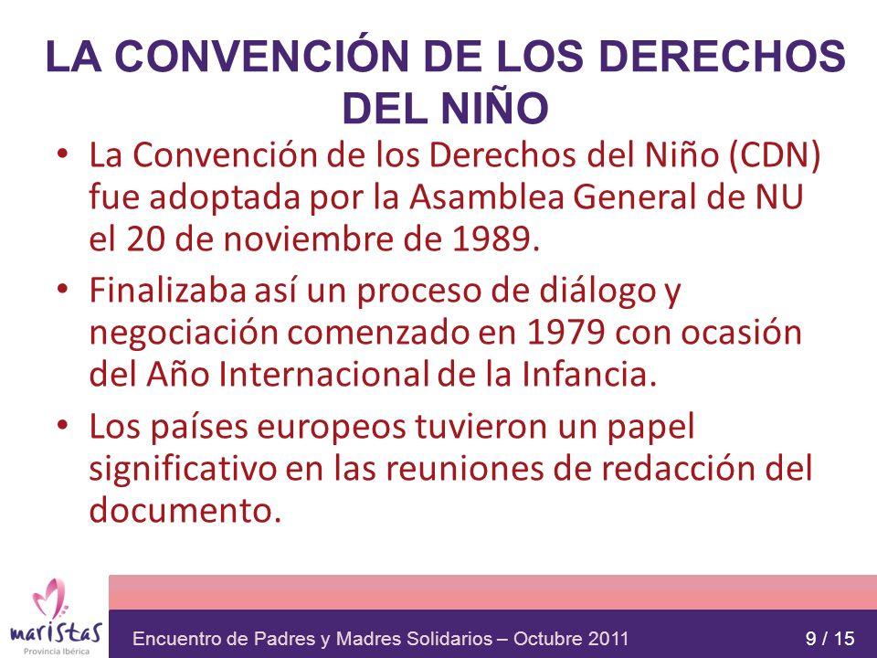 LA CONVENCIÓN DE LOS DERECHOS DEL NIÑO