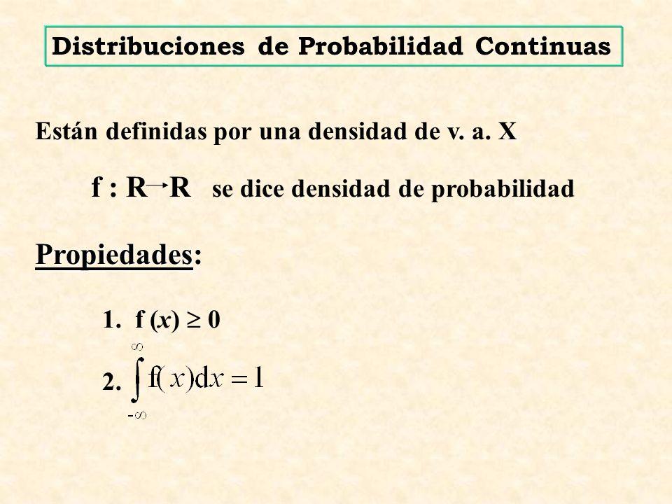 f : R R se dice densidad de probabilidad