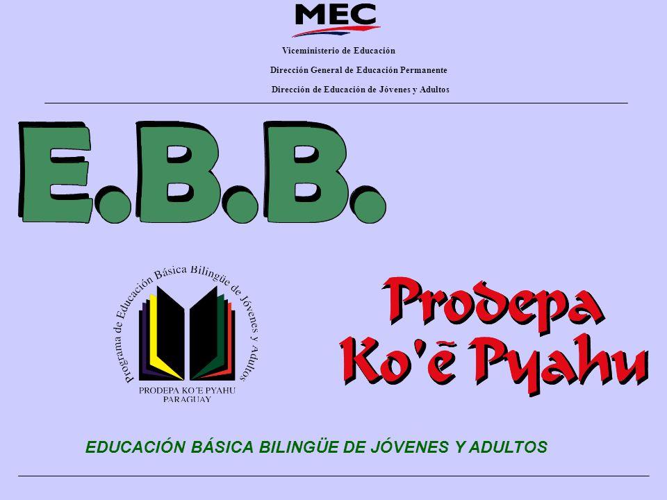 EDUCACIÓN BÁSICA BILINGÜE DE JÓVENES Y ADULTOS