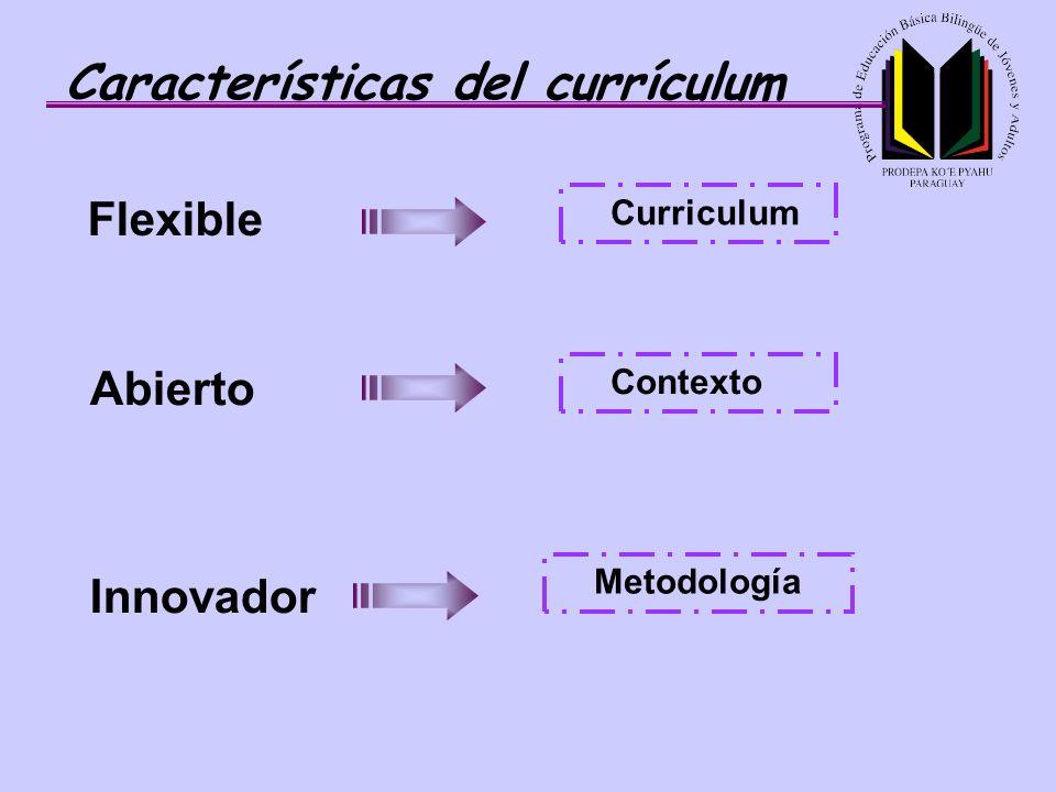 Características del currículum
