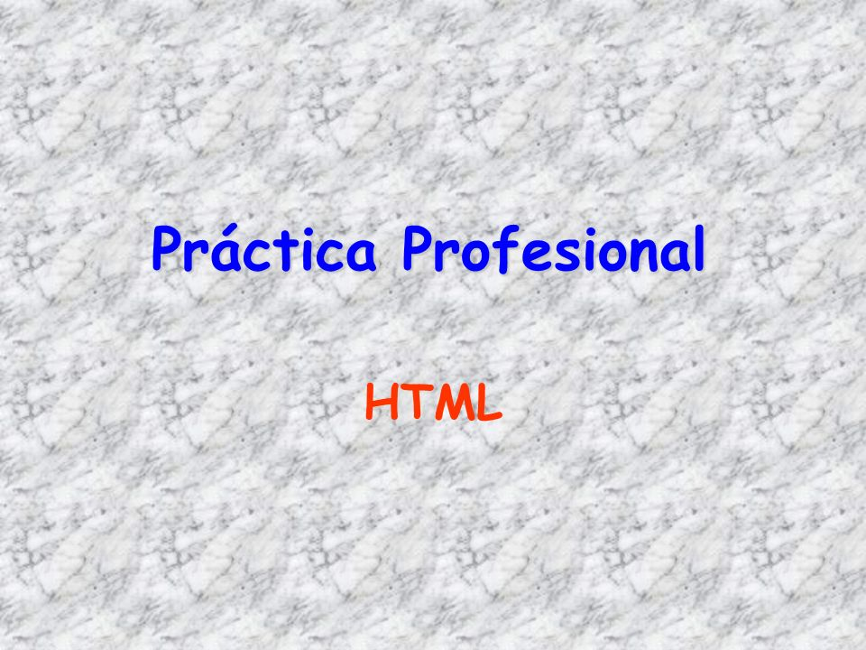 Práctica Profesional HTML