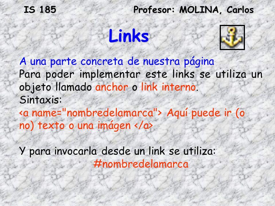Links A una parte concreta de nuestra página