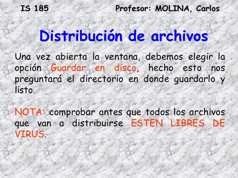 Distribución de archivos