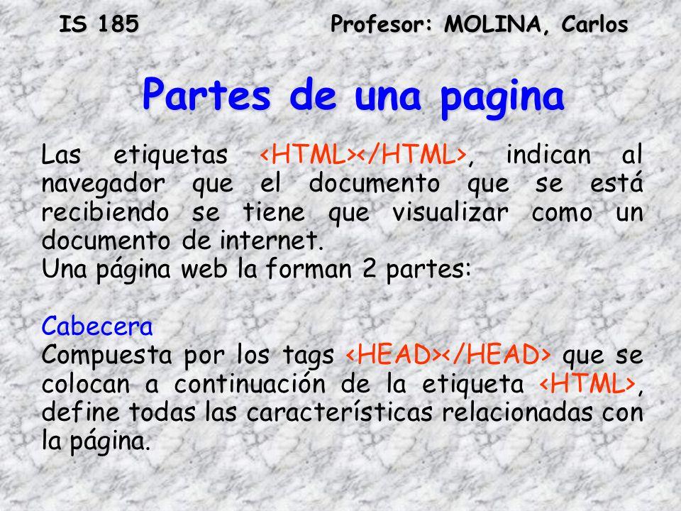 Partes de una pagina