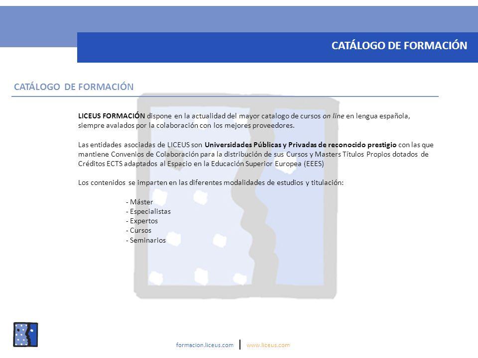 CATÁLOGO DE FORMACIÓN CATÁLOGO DE FORMACIÓN