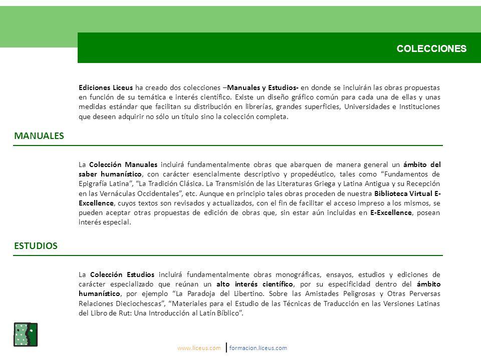 MANUALES ESTUDIOS COLECCIONES