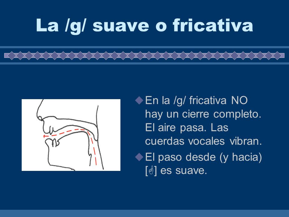 La /g/ suave o fricativa