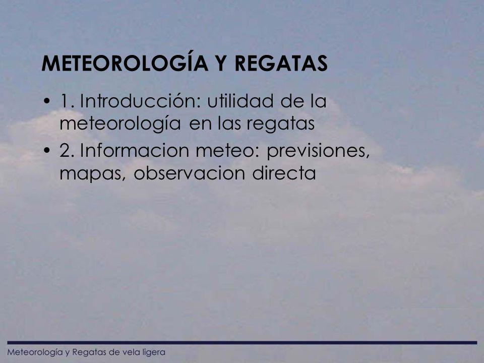 METEOROLOGÍA Y REGATAS