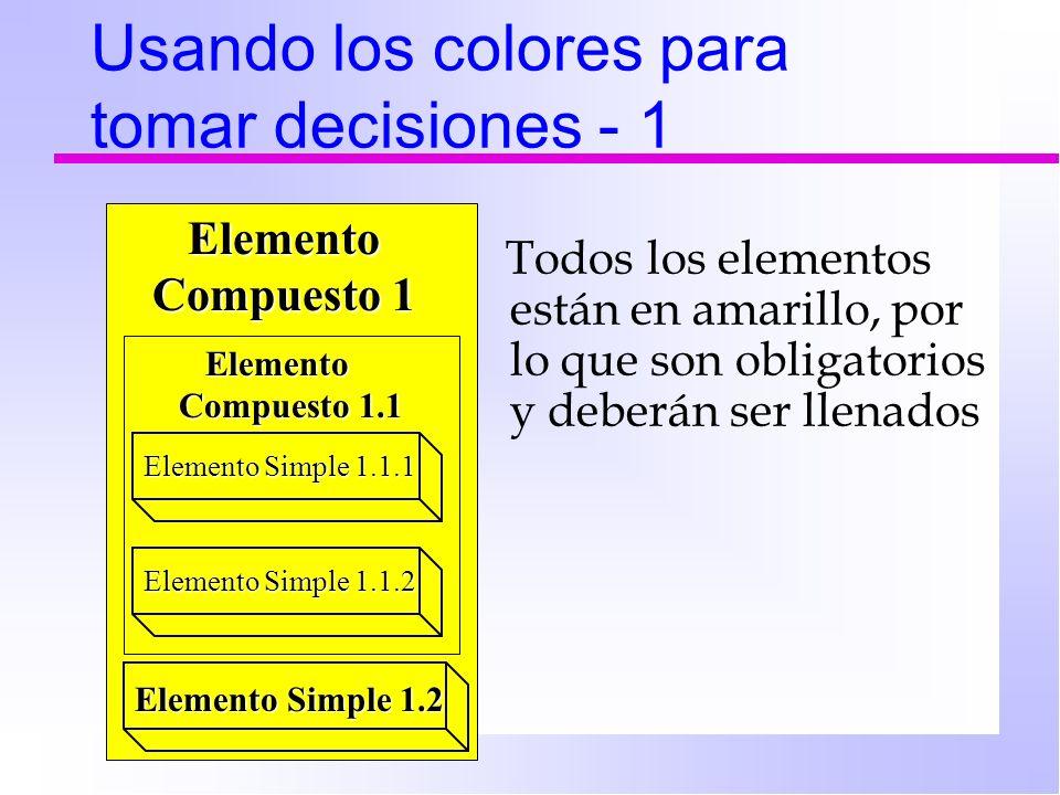 Usando los colores para tomar decisiones - 1