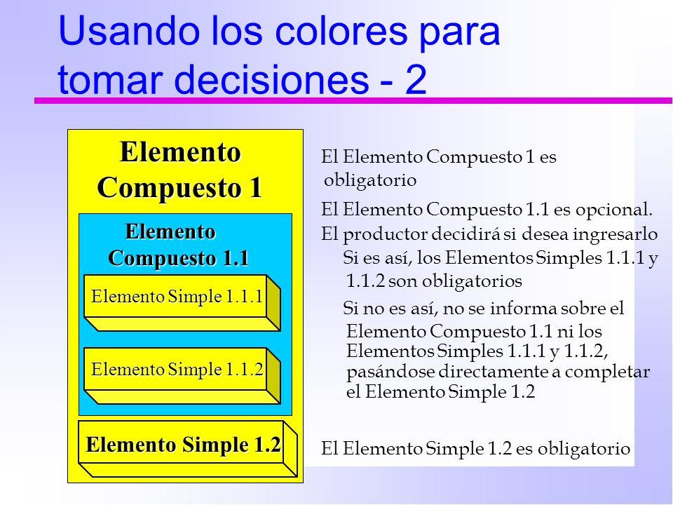 Usando los colores para tomar decisiones - 2