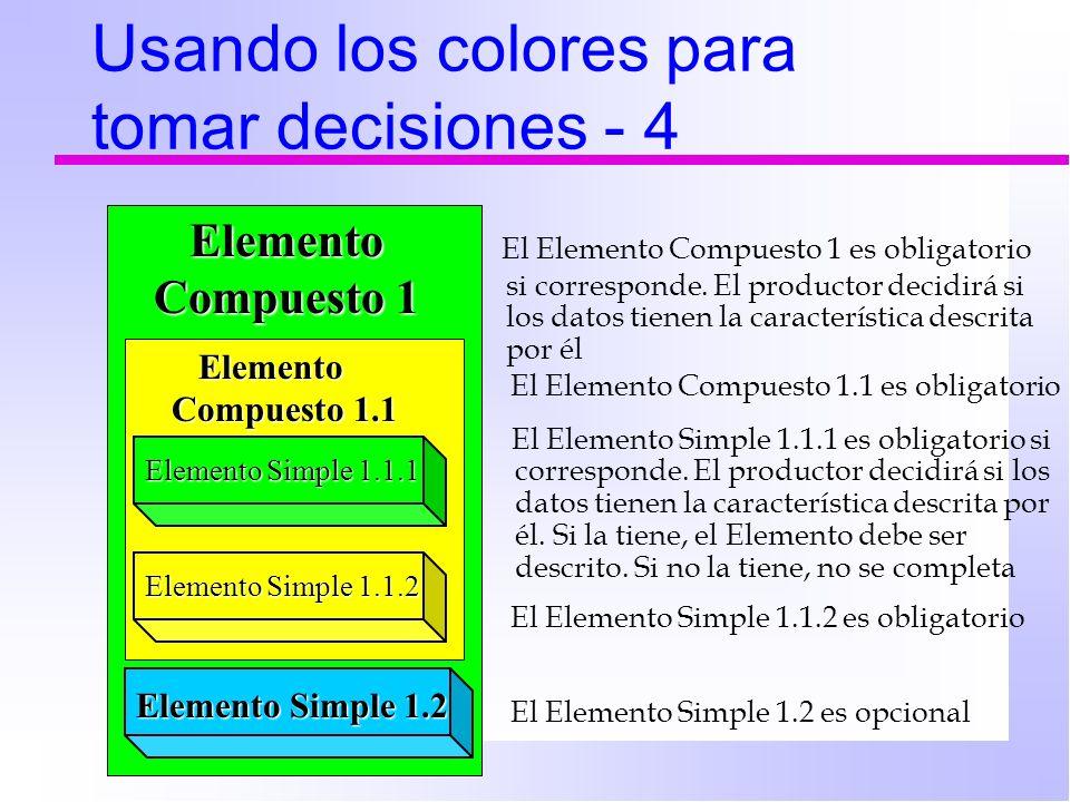 Usando los colores para tomar decisiones - 4