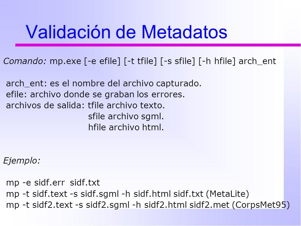 Validación de Metadatos